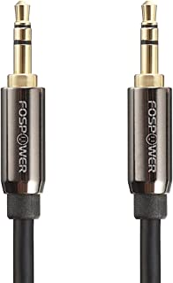 Audio Cable (0.9M/3FT), FosPower 3.5mm Stereo Jack [24K Gold Plated | Step Down Design] Auxiliary Aux Audio Cable Cord for...