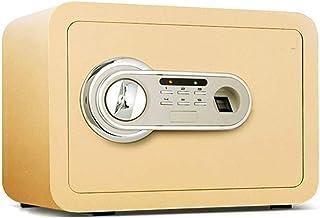 LLRYN Electronic Fingerprint Fire Lock Fireproof Digital Home Combination Box Steel Alloy Drop Safe (Color : A)