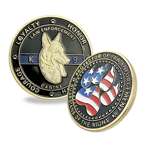 Indeep K9 Police Challenge Coin Law Enforcement Officer Canine Military Gift