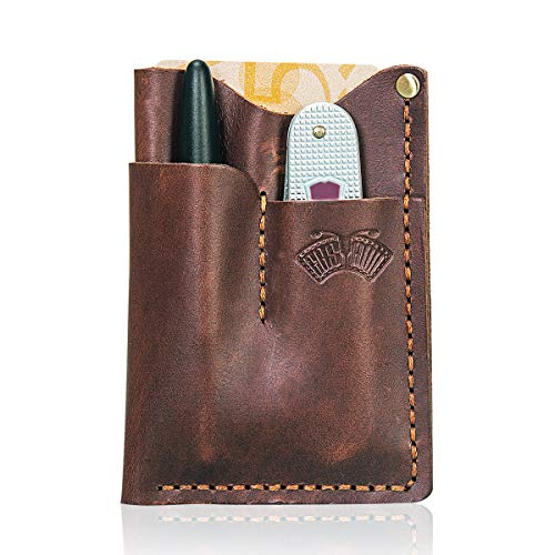 EASYANT Handmade Oil Wax Leather Holsters EDC Pocket Wallets Sheath Tool Pouch Organizer