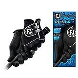 FootJoy Women's RainGrip Golf Gloves, Pair, Black Medium, Pair