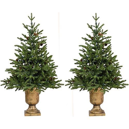 4.0' Noble Fir Potted Tree No Lights (Set 2) Un-lit