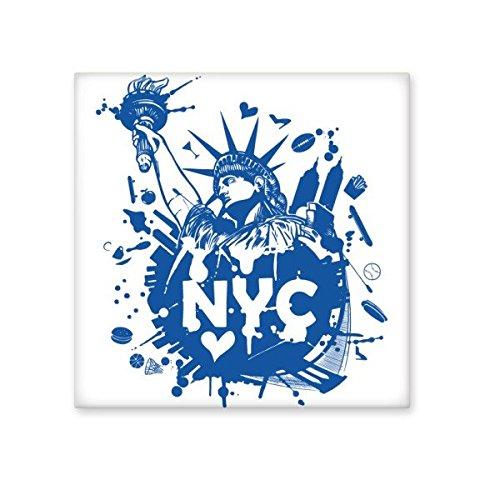 Azulejos de cerámica con diseño de Estatua de la Libertad de Nueva York City America para decorar baños, cocina, azulejos de cerámica, azulejos de pared