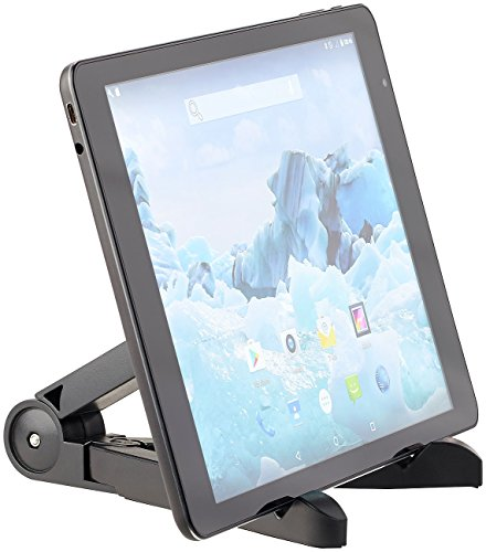 PEARL Tablet Halter: Faltbarer Tablet-Ständer für iPad, Tablet-PC, E-Book-Reader & Co. (Faltbarer Tabletständer)