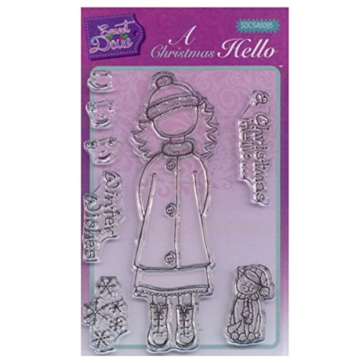 Sweet Dixie A6 Clear Stamp Set - SDCSA6095 A Christmas Hello