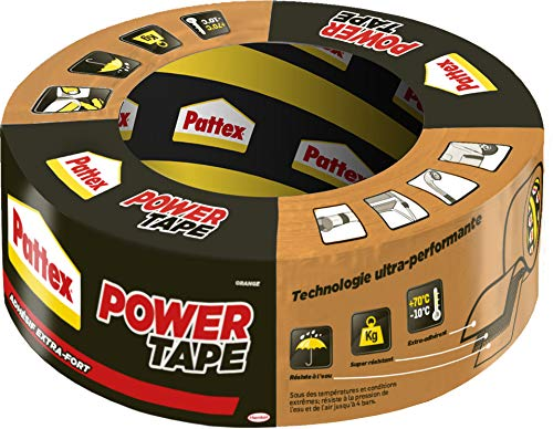 Pattex Power Tape Orange, Klebeband zum Basteln, Klebeband für Gewebereparatur, leistungsstark, selbstklebend, wasserdicht, 30 m Rolle