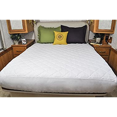 AB Lifestyles Short Queen Mattress Pad USA MADE Mattress Cover for Camper, RV, Travel Trailer Mattresses Size:60x75