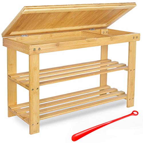 Bamburoba Bamboo Shoe Rack Bench