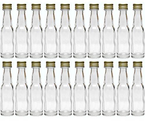 100 leere Mini Glasflaschen