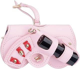 Fanspack Sunglasses Case Cute Butterfly Decor Multi-Purpose Hanging Glasses Storage Bag
