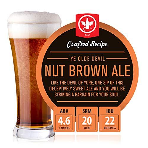 BrewDemon 2 Gal. Ye Olde Devil Nut Brown Ale Beer Recipe Kit - Makes a Wicked-Good 4.6% ABV Batch of Craft Brewed Beer
