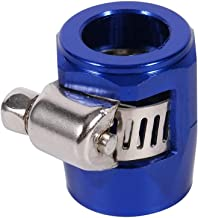 Cuque Hose Finishers AN6 Aluminum Alloy Hose End Trimmer Fuel Automatic Clip Universal Dresser Clamp Pipe Clamp for Cars Vehicles(Blue)