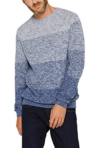 ESPRIT Herren 099Ee2I005 Pullover, Blau (Dark Blue 405), Large (Herstellergröße: L)