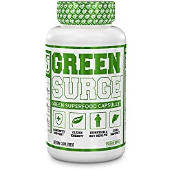 commercial Green Superfoods Green Surge – Keto-friendly vegetable supplements containing spirulina, wheat,… veggie green supplement