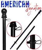 American Signature Flag Pole - Heavy Duty Aluminum Tangle Free Spinning Flagpole with Carabiners - 2019 New Enhanced Design - Outdoor Wall Mount Flagpole for Residential or Commercial