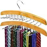 Best Tie Racks - ANKO Tie Belt Hangers 2 Pack, Adjustable Rotating Review