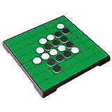 KOKOSUN リバーシ オセロ マグネット式 折りたたみ盤 携帯便利 知育玩具 子供 大人 ボードゲーム (丸角式)