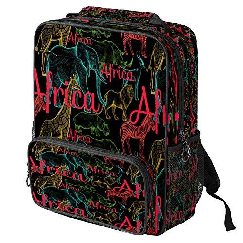 Zaino scolastico casual Trippy Gatti Modello Stampa Laptop Zaino Multifunzionale Daypack Book Satchel, Motivo # 3 (Multicolore) - backpacks013