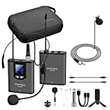 Hotec UHF Wireless Lavalier Lapel Headset Microphone with Monitor for YouTube, Interview, Meeting, Podcast, Video Over Smartphone, PA Speaker and DSLR Camera (H-K19)