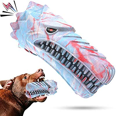 Cutiful Dog Toys for Aggressive Chewers Large Medium Breed Dog Chew Toys Dog Toothbrush Nearly Indestructible Squeaky Interactive Tough Extremely Durable for 13-36 KG Dogs (L, Mixed Color)