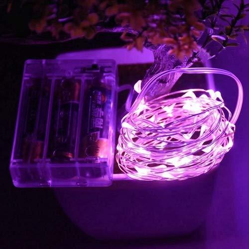 LED cable de cobre plateado con pilas LED luces navideñas impermeables cadena de luces para fiestas navideñas A6 2m20 leds usb