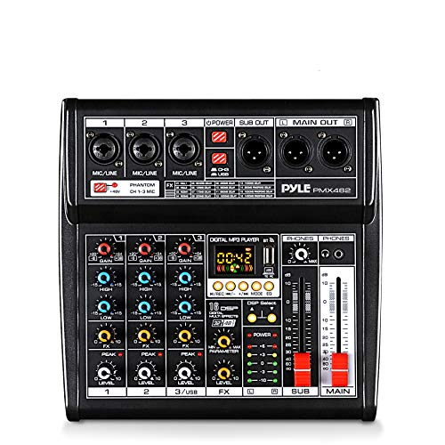 Professional DJ Audio Mixer Controller - 3-Channel DJ Controller Sound Mixer w/ DSP 16 Preset Effects, USB Interface, 3 Mic/Line Input, Built-in FX Processor MP3 Player, Headphone Jack - Pyle PMX462. Buy it now for 82.31