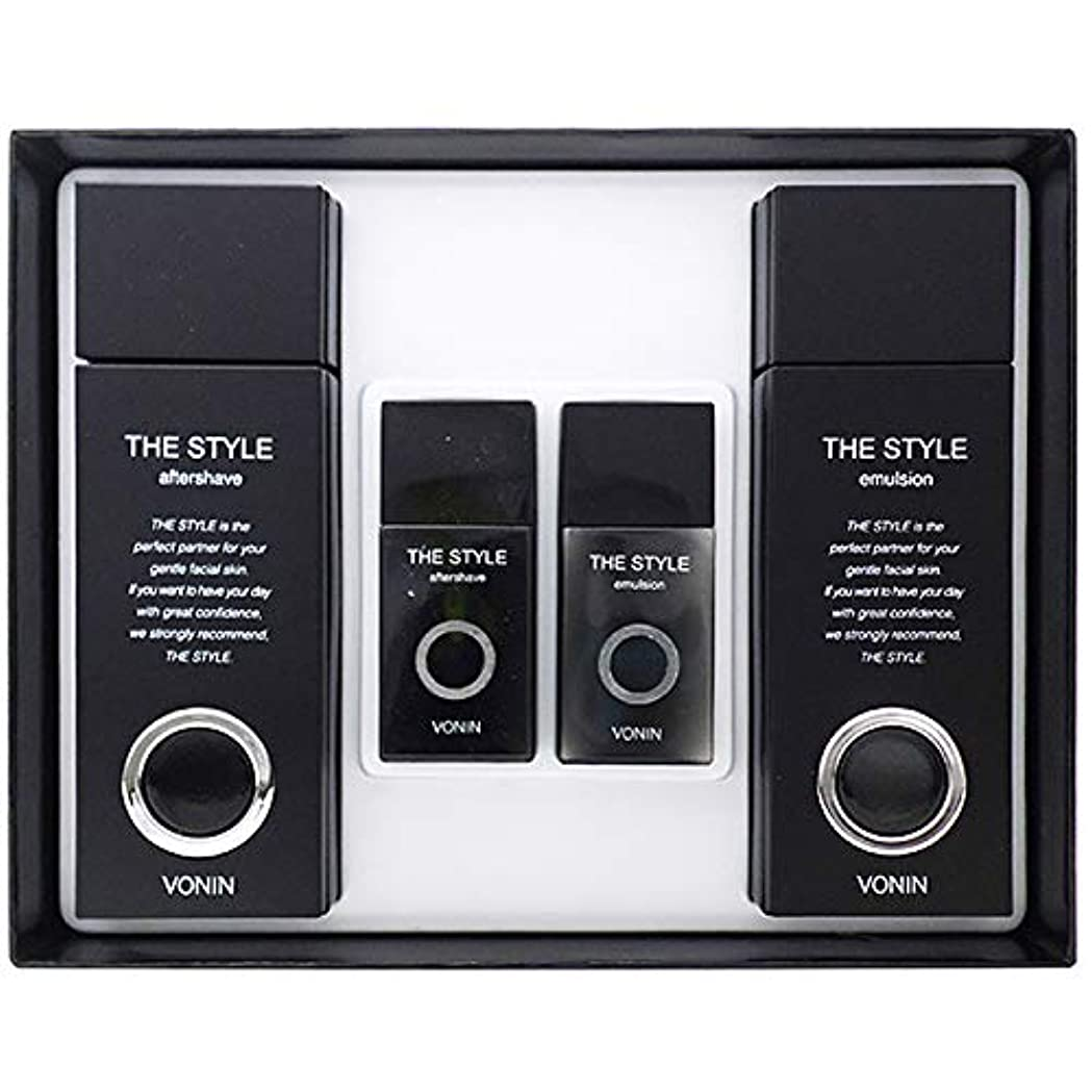 リスナー中央値再生的(ボニン) VONIN THE STYLE For Men Aftershave + Emulsion Set よりスタイル2種男性化粧品セットトナー135ml+35ml +エマルジョン135ml+35ml [並行輸入品]