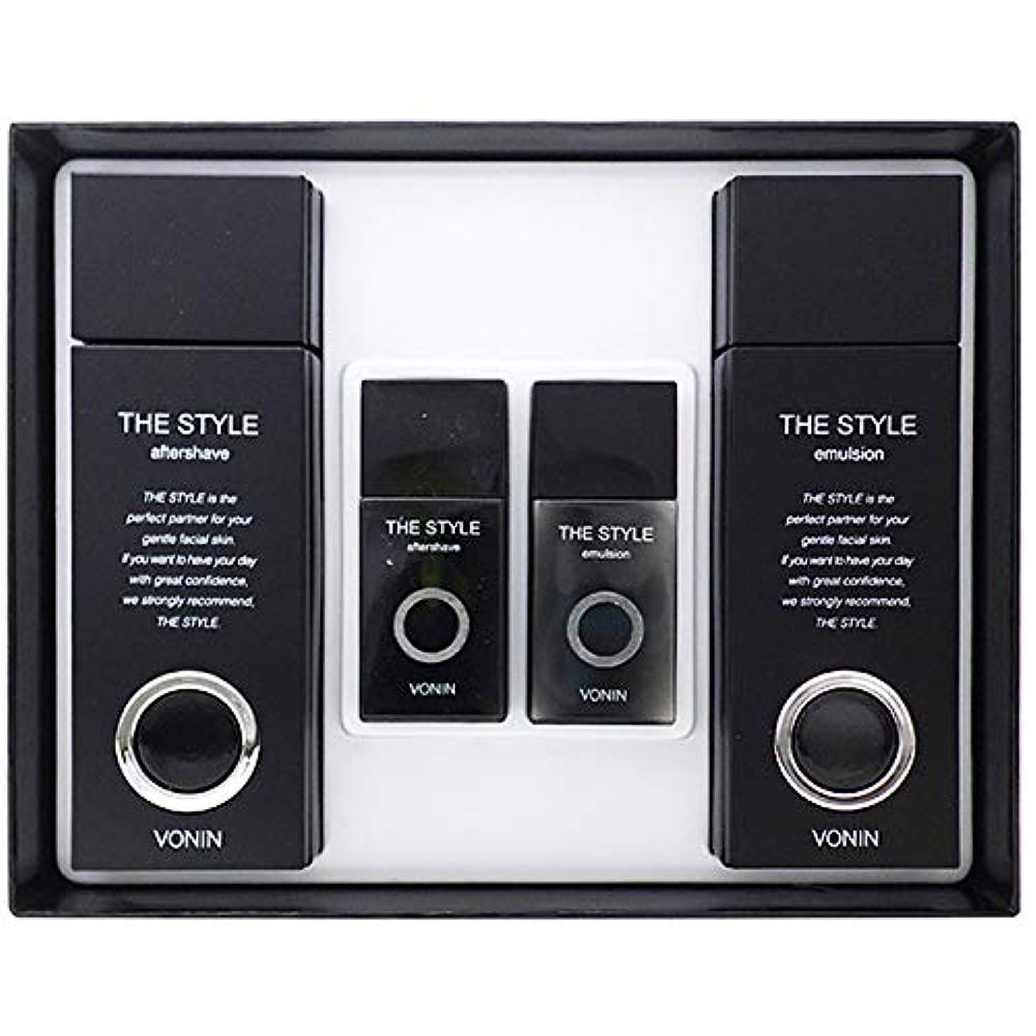 たっぷり病気だと思うアラブサラボ(ボニン) VONIN THE STYLE For Men Aftershave + Emulsion Set よりスタイル2種男性化粧品セットトナー135ml+35ml +エマルジョン135ml+35ml [並行輸入品]