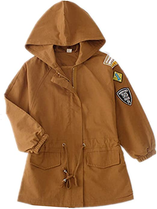 Agoky Baby Girls Spring Fall Winter Trench Hooded Jacket Coat Outerwear