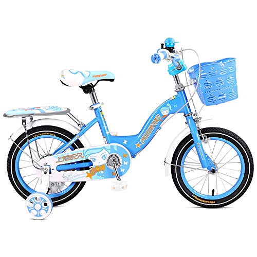 BAOMEI Kids Bike Kids' Bikes 12 Inch, High Carbon Steel Children's Bicycle with Training Wheel Gift for 2-5 Years Old Boys and Girls