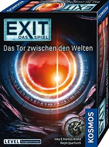Kosmos 695231 EXIT - Das Spiel - Das Tor zwischen den Welten, Level: Fortgeschrittene, Escape Room Spiel, für 1 bis 4 Spieler ab 12 Jahre, einmaliges Event-Spiel, spannendes Gesellschaftsspiel