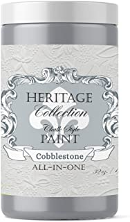 Heritage Collection All in One Chalk Style Paint Color: Cobblestone (Gray) 32oz Quart