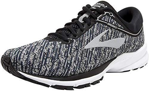 Brooks Launch 5, Zapatillas de Running para Mujer, Multicolor (Black/Ebony/Primer Grey 039), 36.5 EU