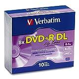 Verbatim Life Series DVD+R DL Disc Slim Case, Pack of 10