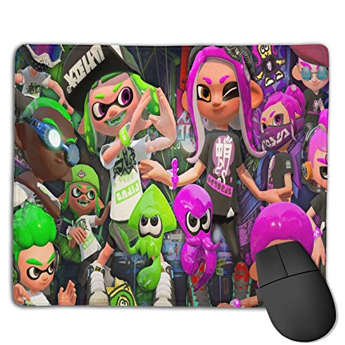 S-Pla-Toon Mouse Pad with Stitched Edge, Computer Mouse Pad with Non-Slip Rubber Base, Mouse Pads for Computers Laptop Mouse Gaming Mousepad Mat White One Size