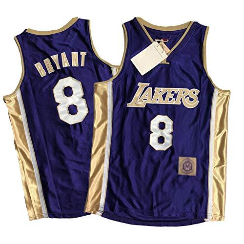 OKMJ Kobe Jersey, Lakers #24#8 - Chaleco de baloncesto para hombre y mujer, edición conmemorativa de Kobe – Mejor regalo (dorado y morado) morado 8-XXL