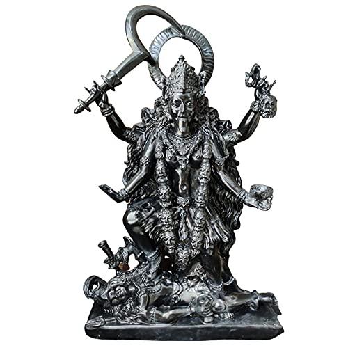 Generic Große Kali MAA Statue, 27 Zoll schwarzer Mahakali Skulptur, Göttin Kali Figur, indisches Göttinnenidol, spirituelle mächtige Göttin Mahakali Marmorstatue
