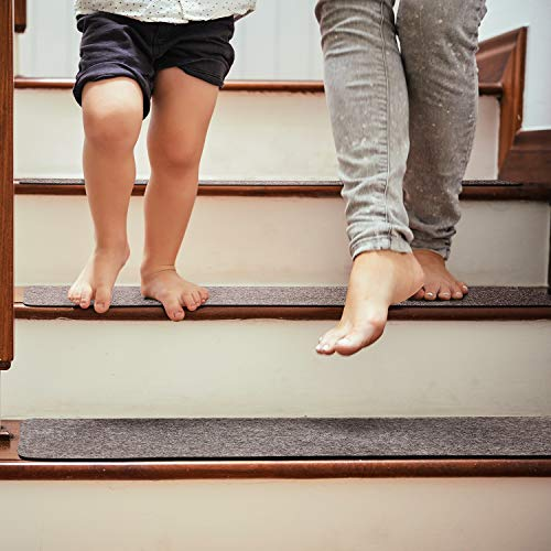 Pretigo Non Slip Carpet Stair Treads, Set of 14,Safety Slip Resistant for Kids, Elders, and Dogs
