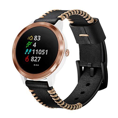 XZZTX Compatible avec Les Montres Garmin Vivomove HR, 20 mm Bracelet de Rechange en Cuir, Sport, Compatible avec Vivoactive 3 / Vivomove HR SmartWatch