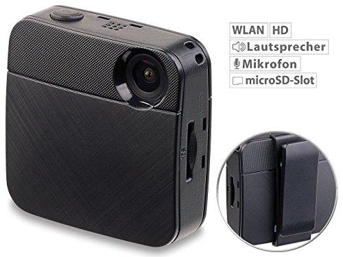 Somikon Bodycam: Mini-HD-Body-Cam mit WLAN & Livestream-Funktion für YouTube & Facebook (Mini Bodycam)