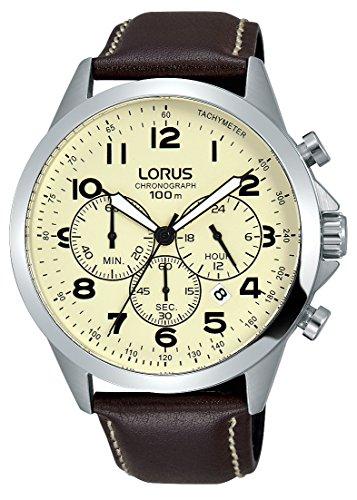 Lorus Watches Herren Analog Quarz Uhr mit Leder Armband RT377FX9