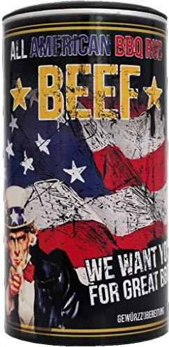 All American BBQ Beef - Für perfekt gegrilltes Beef - Authentisch Amerikanische Barbecue Trockenmarinade Für Unverwechselbaren Grillgenuss - 350g