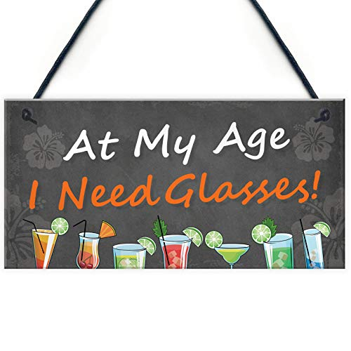 Home Decorative Funny Bar Pub Wall Decor Man Cave Shed Plaque (I Need My Glasses)