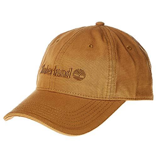 Timberland Men's Cotton Canvas Baseball Cap, Wheat/Flat Logo, 1 Size