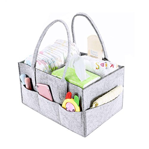 Bolsa de almacenamiento para pañales de bebé, fieltro recién nacido, organizador de guardería, cesta de juguete para pañales, cesta de pañales para viajes en coche