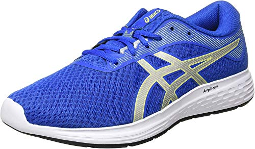 Asics Mens Patriot 11 Running Shoe - Tuna Blue/Pure Silver - 44 EU
