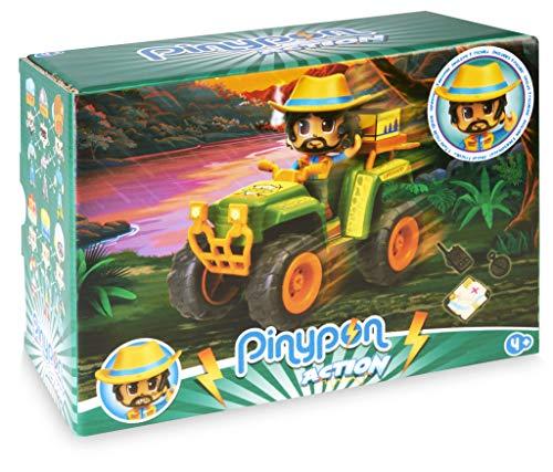 Pinypon Action Wild. Coche Quad para niños y niñas de 4 a 8 años (Famosa 700016302)