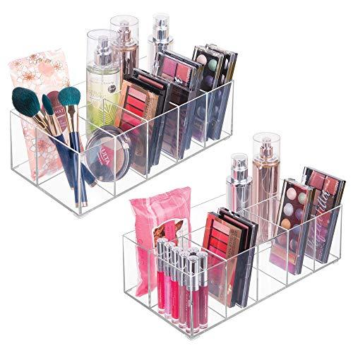 mDesign Kosmetik Organizer ? Aufbewahrungsbox mit sechs Fächern für Make-up, Nagellack und...
