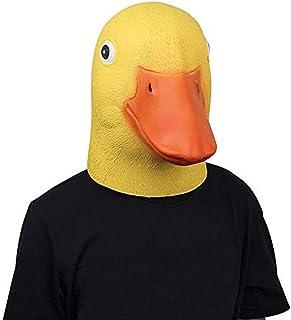 molezu Látex máscara Cabeza Animal Fiesta de Halloween y Navidad el Pato máscara en Disfraz Adulto(Amarillo)