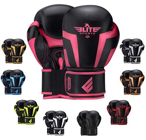 2020 Pro Boxing Gloves for Men & Women, Boxing Training Gloves, Kickboxing Gloves, Sparring Gloves, Heavy Bag Gloves for Boxing, Kickboxing, Muay Thai, MMA (Pink 10 Oz)